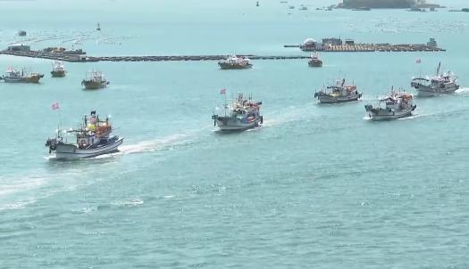 韩国350艘渔船出海 抗议日本核废水入海决定
